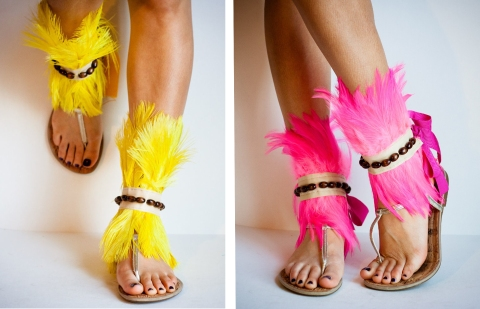 jdott, joy at j dot designs, feather ankle cuffs, Nicki Minaj music video, Nicki Minaj Starships Music Video, Haley Byrd, Costumer, Designer, Stylist, fashionrework.com, haleybyrd.com,  Design Inspiration From around the World