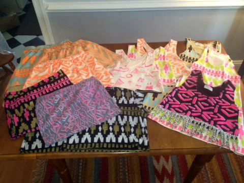 NICKIMINAJCLOTHING, Nicki Minaj Starships options, Thief and Bandit, Haley Byrd, Costumer, Designer, Inspiration Neon and Tribal