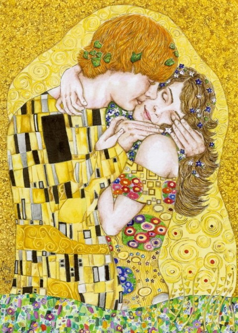gustav klimt, gustav klimt artist inspiration, art inspired by gustav klimit, fashionrework.com, haley byrd, costumer, designer, stylist, haleybyrd.com, inspiration from around the world, Harry Potter Kiss