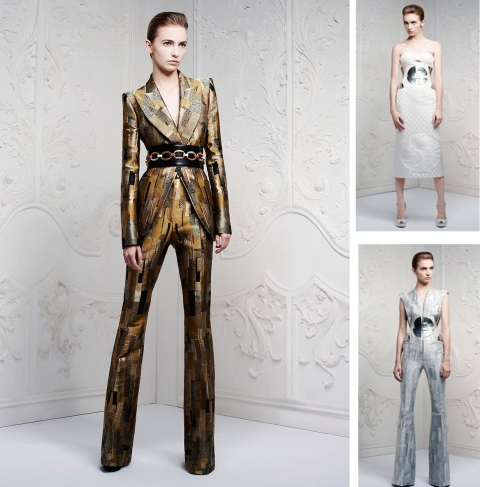Alexander McQueen 2013 Resort Line, David Bowie, Androgyny,Ziggy Stardust, Sexy, Gustav Klimt Color Palettes, Patterns, Brush Strokes in Prints, Haley Byrd, Fashion Designer, Costume Designer, Costumer, Stylist, HaleyByrd.com, Design Inspiration and Motivation from around the world and every corner, FashionReWork.com